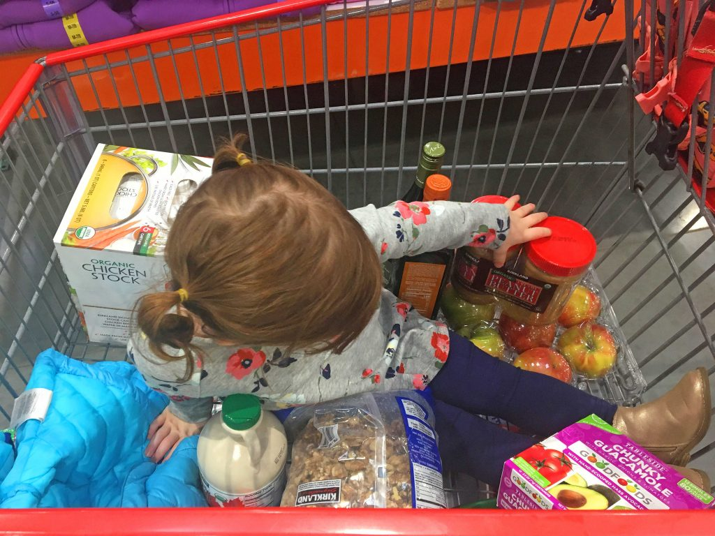 shopping with a toddler