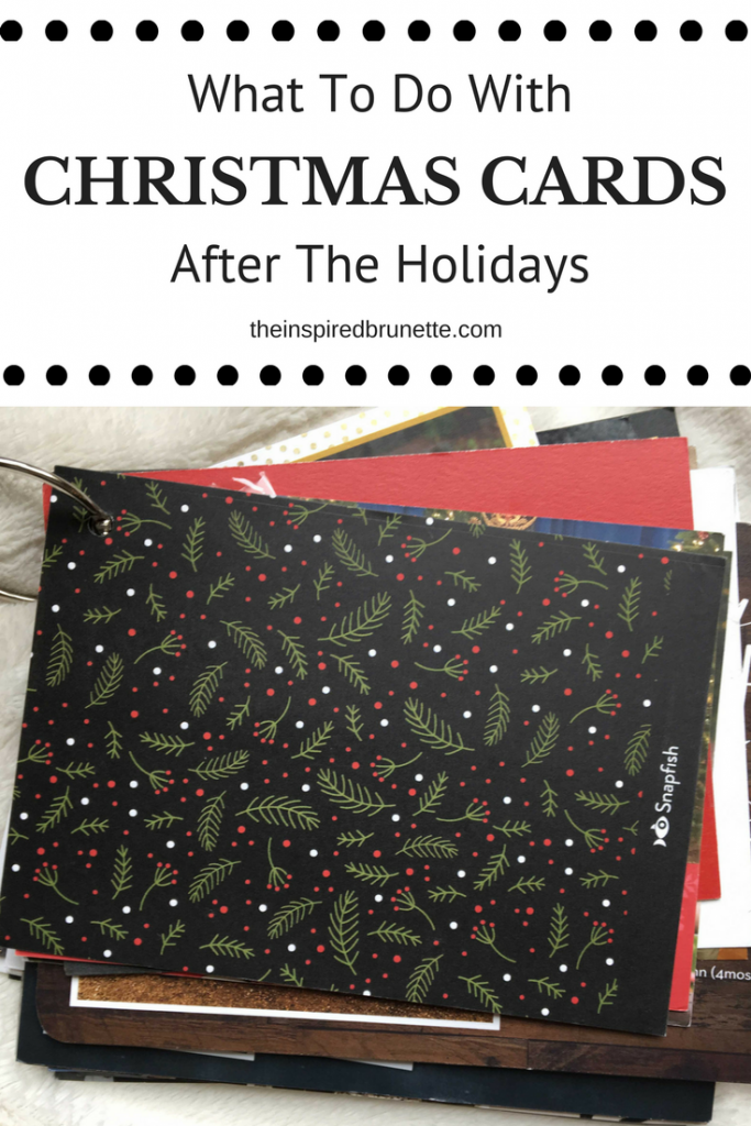 What To Do With Christmas Cards | The Inspired Brunette