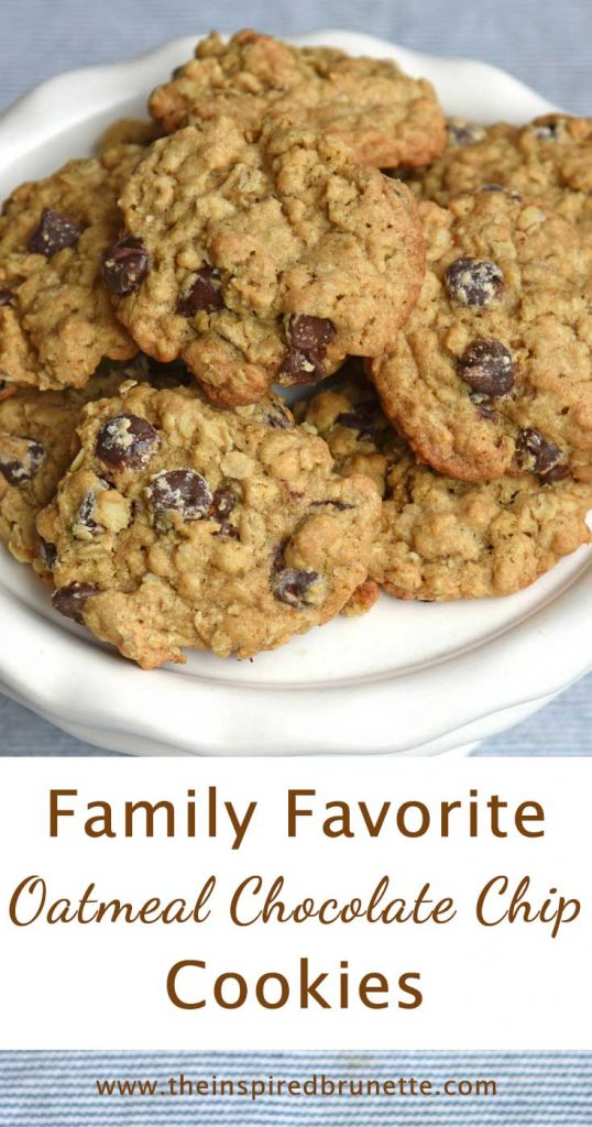 Baking cookies is always a good idea, and these family favorite oatmeal chocolate chip cookies are no exception. Trust me when I say they go fast in our house!