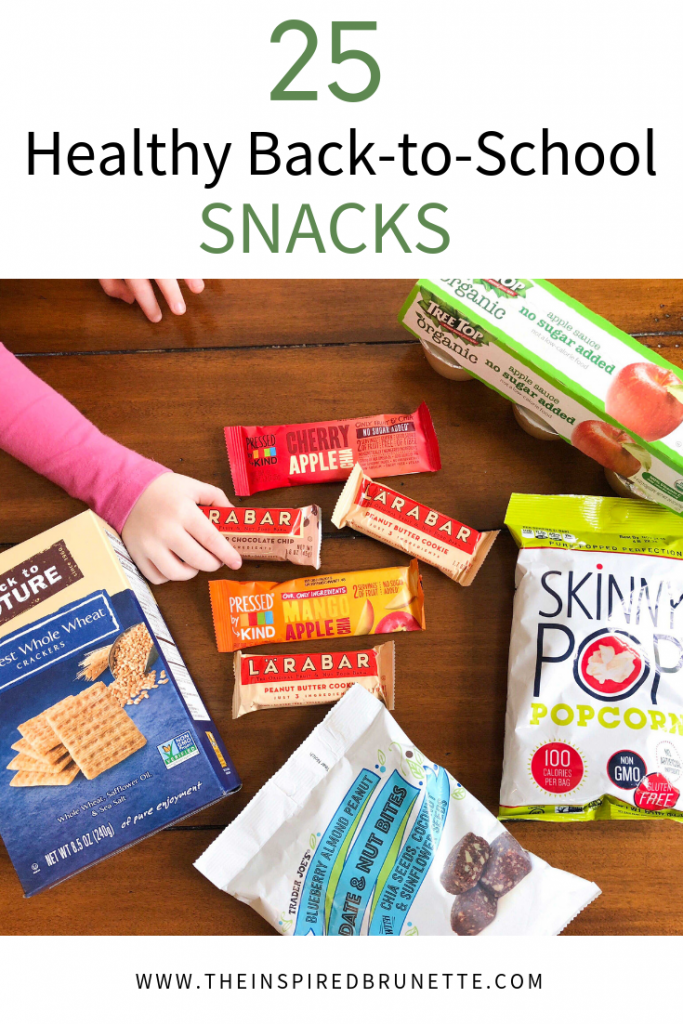 With school back in session it is back to packing snacks and lunches. Here are 25 healthy back-to-school snacks to keep your kids fueled throughout the day.