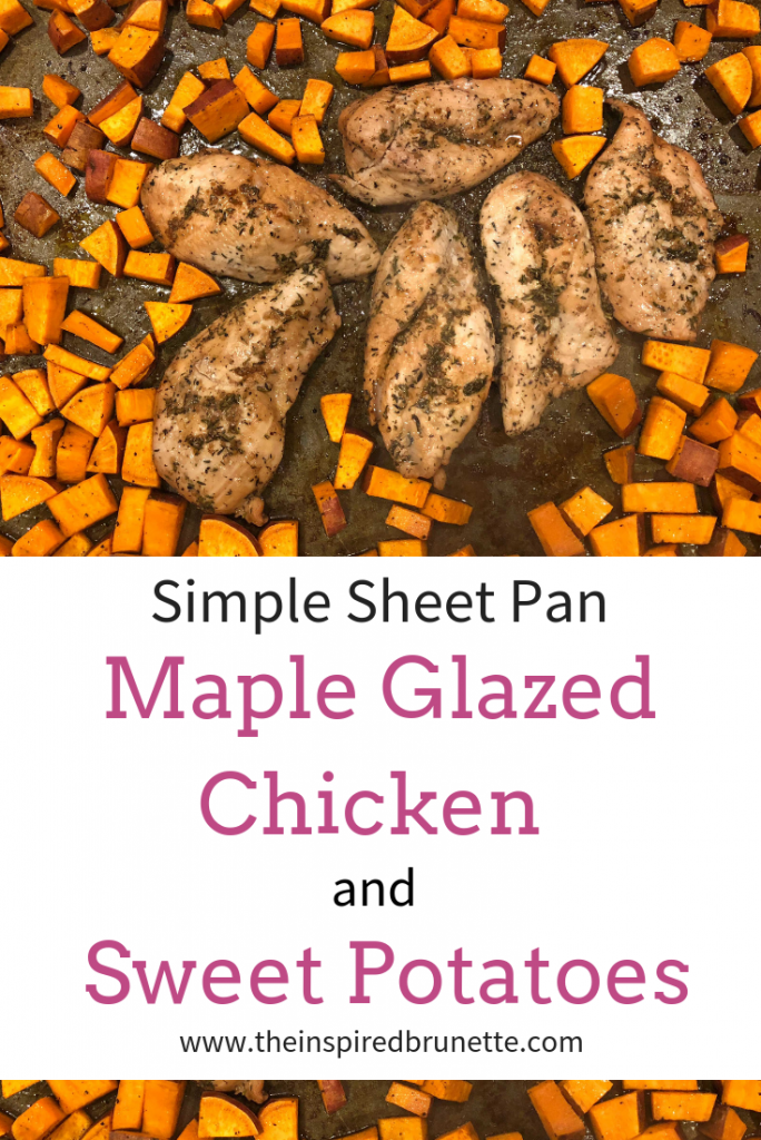 Looking for an easy weeknight meal? Then this sheet pan maple glazed chicken and sweet potato recipe is the perfect solution!