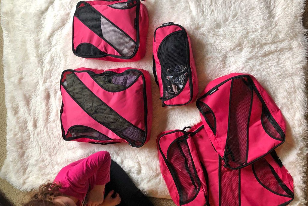 pink packing cubes amazon