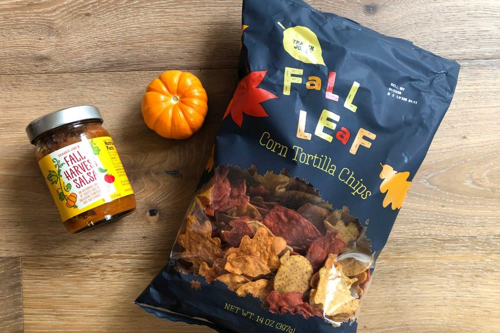 Trader Joe's Fall Leaf Chips
