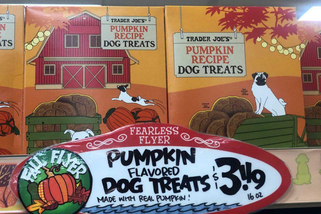 Trader Joe's Pumpkin dog treats
