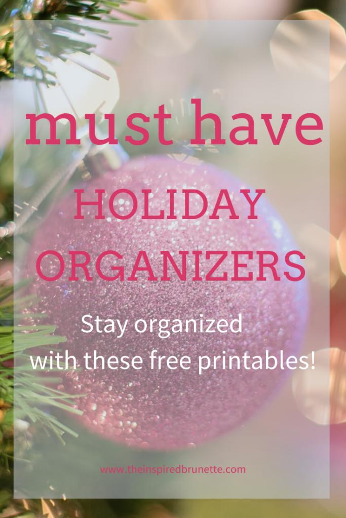 free holiday organizer printables