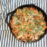 ground turkey and sweet potato enchilada skillet