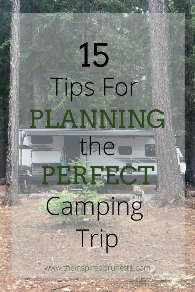 camping trip planning