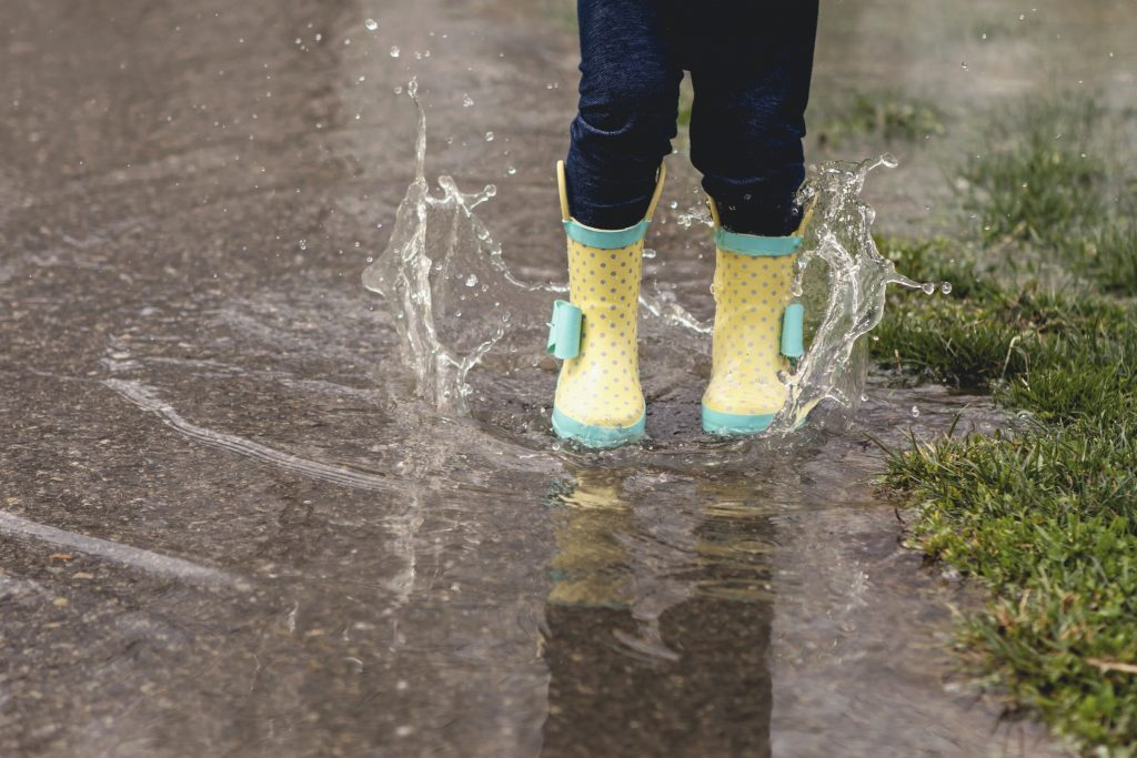 spashing in puddles portland bucket list