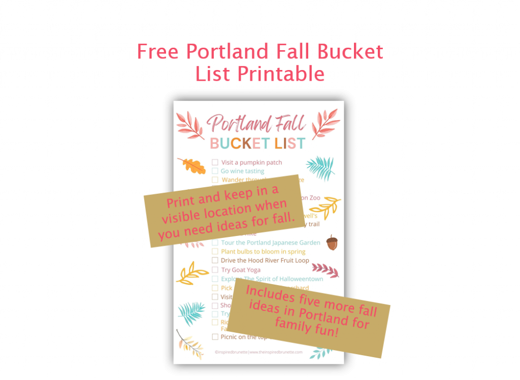 free fall bucket list printable portland