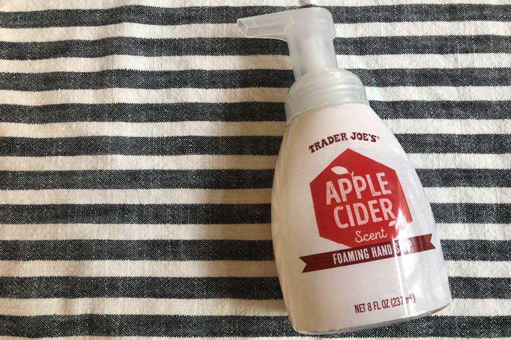 apple cider foaming hand soap